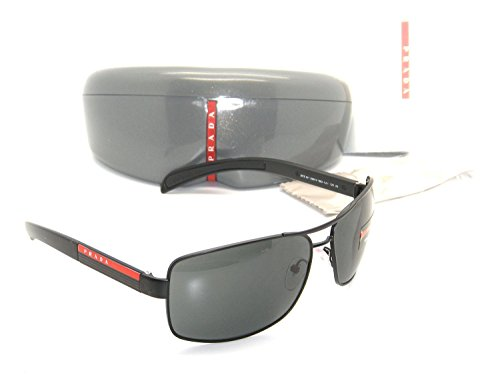 New Authentic Prada Sunglasses PS 54IS 1BO1A1 65mm Matte Black with Gray Lenses by Prada