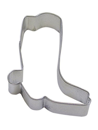 CybrTrayd R&M Cowboy Boot Tinplated Steel Cookie Cutter, 3-Inch, Silver, Bulk Lot of 12