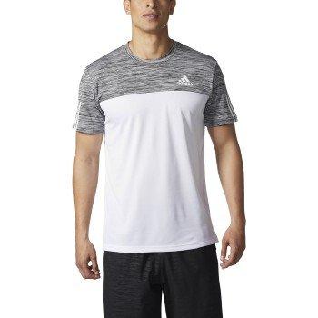 adidas Men's Training Essentials Tech Tee,White/Black/Collegiate Heather,XX-Large