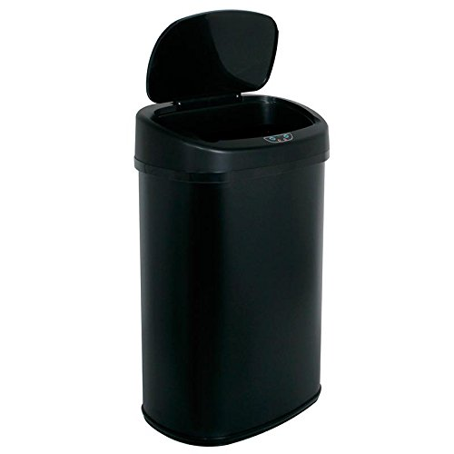 [Eight24hours Modern Touch Free Sensor Automatic Trash Black - P6] (Recycle Bin Costume)