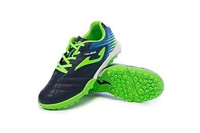 Joma Kids' Toledo JR TF Turf Soccer Shoes (1 Little Kid, Navy/Royal/Green)