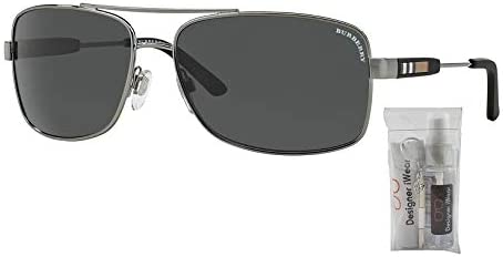 Burberry BE3074 Rectangle Sunglasses For Men+FREE Complimentary Eyewear Care Kit