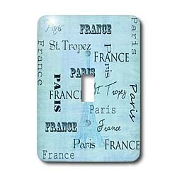 3dRose LLC 3dRose LLC lsp_110166_1 Paris, France Typography with Eiffel Tower - Vintage - Single Toggle Switch