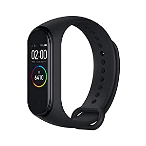 "Original Xiaomi Band 4 (Global Version) Fitness Tracker Newest 0.95"" Color AMOLED Display Bluetooth 5.0 Smart Bracelet Heart Rate Monitor 5 ATM Waterproof Android & iOS with 135mAh Battery up to 20 Days Activity Tracker (Black)"