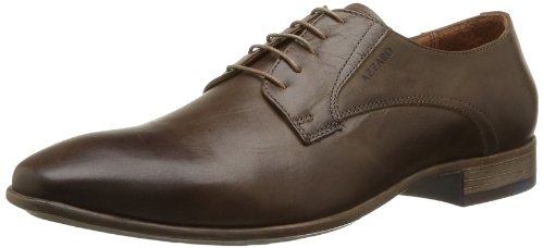Azzaro Veston - Zapatos de Cordones de cuero hombre marrón - Marron (Chataigne)