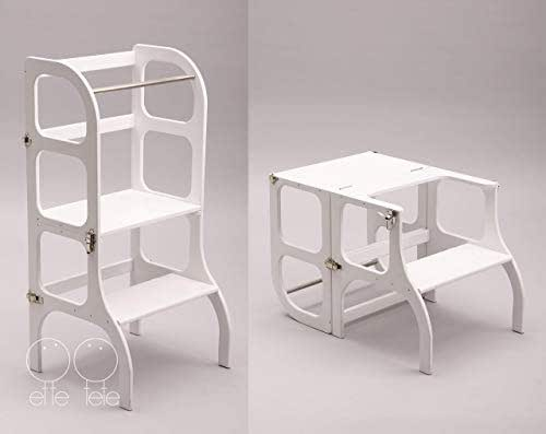 Amazon Com Convertible Helper Tower Table Chair Step N