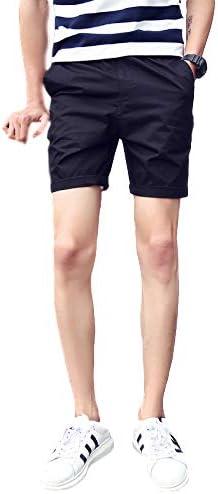 ショートパンツ メンズ コットン きれい目 スリム 膝上 夏 清潔感 大人 カジュアル M~2XL