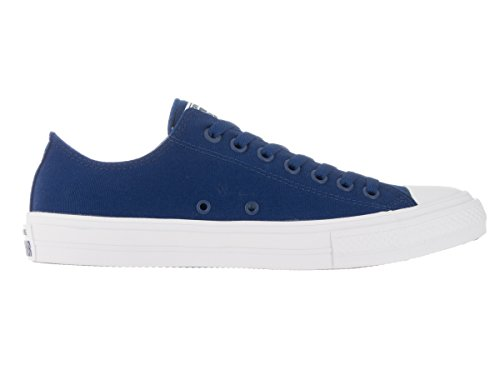 Converse Mens Chuck Taylor All Star Low Ii Sneaker Blu Scuro Bianco