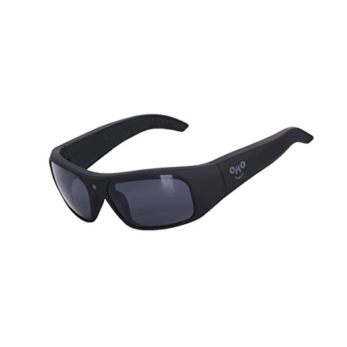 OHO IP66 Waterproof 32GB Ultra HD 1080P Camera Glasses Video Recording Sport Sunglasses with UV Impact Resistant Black Lens by OHO sunshine