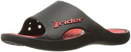 Rider Men's Bay VI Sandal, Black/Red, 10 US/10 M US