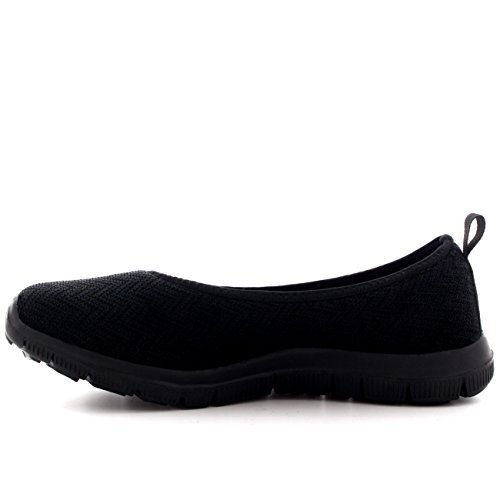 Mujer Caminar Para Bailarina Negro Zapatillas Deportes Negro Malla Gimnasio Corriendo Aptitud Yoga Ligero IAApqwxrSR