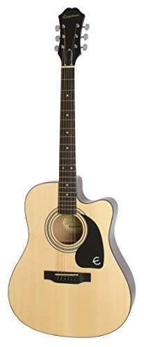 Epiphone EEFTNACH1 FT-100CE Jumbo Acoustic Guitar, Natural