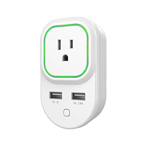Zooz Z-Wave Plus Smart Plug ZEN06 VER. 2.0 with 2 USB Charging Ports, White (Z-Wave Hub Required)