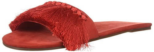 SCHUTZ Women's Maduna Slide Sandal, Summer Red, 8.5 M US by SCHUTZ
