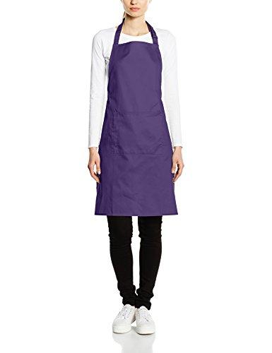Premier Workwear Colours Bib Apron with Pocket, Top para Mujer morado
