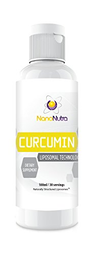 (Liposomal Curcumin by NanoNutra - The Most Advanced Natural Turmeric Curcumin | Utilizing Sunflower Lecithin Liposomes for Dramatically Increased Absorption | Natural Anti-Inflammatory & Detox Support)