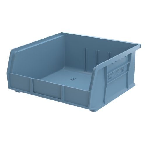 Akro-Mils 30235 11-Inch by 11-Inch by 5-Inch Plastic Storage Stacking Hanging Akro Bin, Light Blue, 6-Pack by Akro-Mils