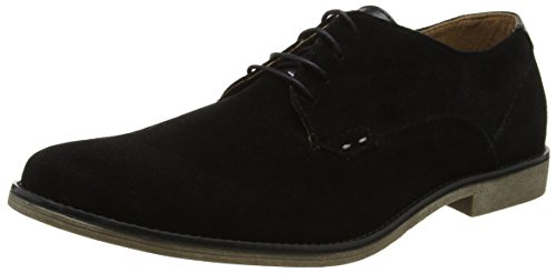 Burton Menswear London Malone, Scarpe Stringate Derby Uomo Nero (Black 130)
