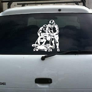 Bobsled Decal Winter Olympics Lg