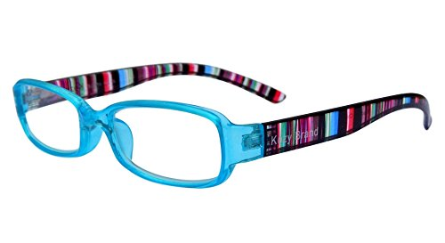 Reading Glasses for Women Stylish Colorful Readers with Matching Case and Cleaning Cloth (Ice Blue, - Blue Blocking Prescription Glasses Uk Light