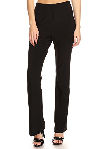 THE BRANCH Women Dress Pant Pull On Stretch Trousers for Work & Casual Wear#P-246