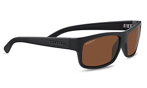 Serengeti Martino Sunglasses Satin Black, Brown by Serengeti