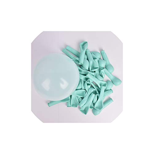 - 30pcs 5 Inch Macarons Color Pastel Candy Balloons Latex Round Helium Balloons for Birthday Party,Tiffany Blue