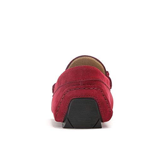 scamosciata Flat in Marrone Mocassini 44 EU guida Men's pelle da da pelle On mocassino Scarpe Ofgcfbvxd Color Slip Flat Dimensione in vera vera Rosso Casual qwz7E