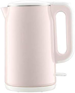 家庭用電気ケトル自動電源オフ家庭用大容量24時間絶縁1800W絶縁一体型ステンレス鋼1.8L白(色:ピンク)