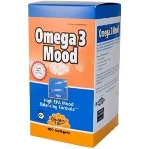 COUNTRY LIFE VITAMINS OMEGA 3.MOOD, 180 SGEL