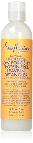 Shea Moisture Baobab & Tea Tree Oils Low Porosity Protein Free Leave In Detangler, 8 Oz, 8 Fluid Ounce (Best Products For Low Porosity Natural Hair)