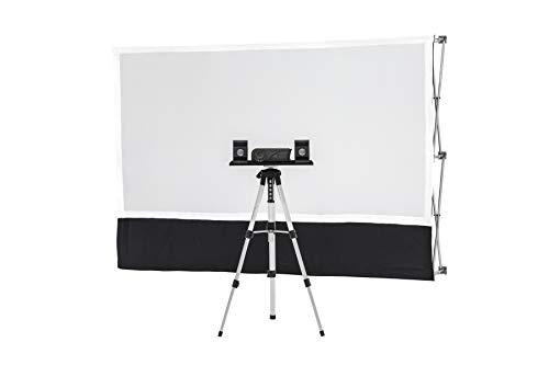 Starter Series Portable Indoor/Outdoor Theater Kit! Includes: 6ft Projection Screen, Savi HD Mini Projector, Sound System, Telescopic Tripod with Tray, Twist Stakes, Web Straps, and Padded Carry - Theater Starter Kit Home