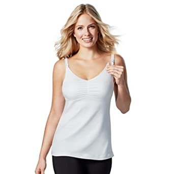 1e5380b5cb4586 Medela Maternity and Nursing Cotton Tank Top (White)  Amazon.in  Clothing    Accessories