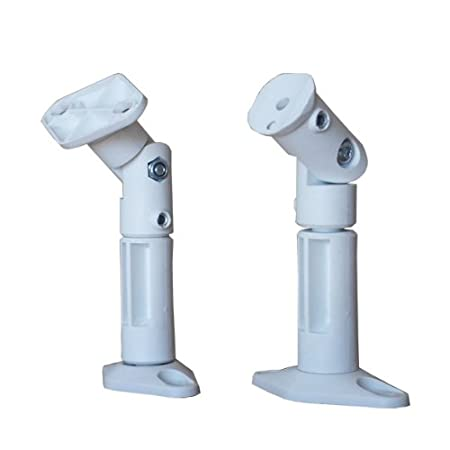 VideoSecu Universal Satellite Speaker Mounts/Brackets for Walls and Ceilings (White, Black Available)