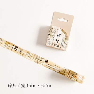 Autumn Water Vintage Newspaper washi Tape DIY Decoration Scrapbooking Planner Masking Tape Adhesive Tape