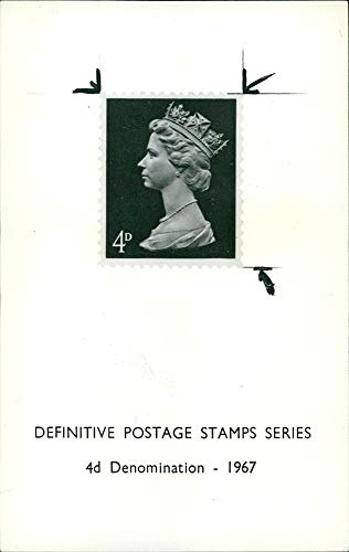 - Vintage photo of Stamps British and Commonwealth Elizabeth Definitive Postage stamps Series.