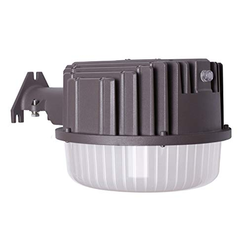 Area Light Security (AntLux 80W LED Dusk to Dawn Light Outdoor Barn Lights, 8600lm, 5000K Daylight, Photocell Included, Perfect Security Area Street Yard Light, 700W Incandescent or 200W MH/HID Equivalent, Bronze Finish)