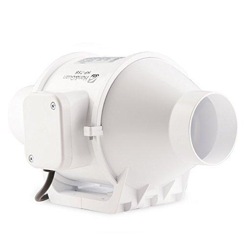 3 Inch Inline Duct Fan : Hon guan inch inline duct fan booster plastic