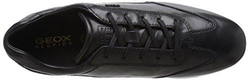 Geox U Efrem a, Zapatos de Cordones Oxford para Hombre Schwarz (BLACKC9999)