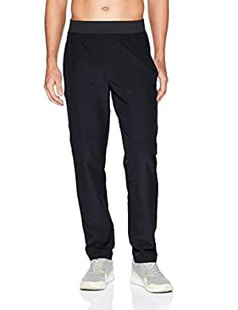 Peak Velocity Men's All Day Comfort Stretch Woven Pant, Black, Small