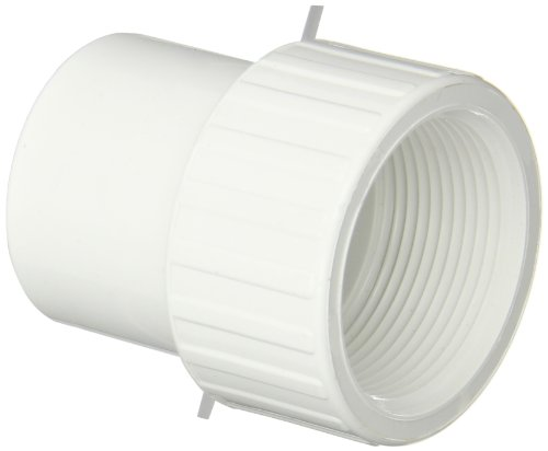 Spears 478 Series PVC Pipe Fitting, Adapter, Schedule 40, 1-1/2
