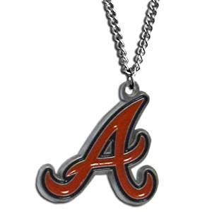 MLB Atlanta Braves Logo Pendant Necklace - Logo Baseball Pendant