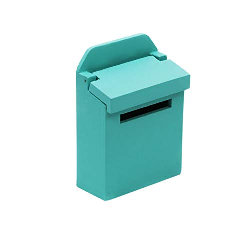 Cinhent Kids Toy Mailbox Colorful Outside Postbox Mailbox - Educational Toy Mailbox Miniature Wooden Furniture Dollhouse-Play Set Pretend Play Learning Development Fun for Toddlers and Children