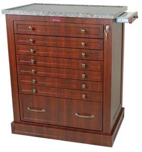 Cherry Standard Cabinet (Wood Look 294 Capacity Unit Dose Medication Cart Standard Package WL294BOX, color: Cherry Mahogany.)