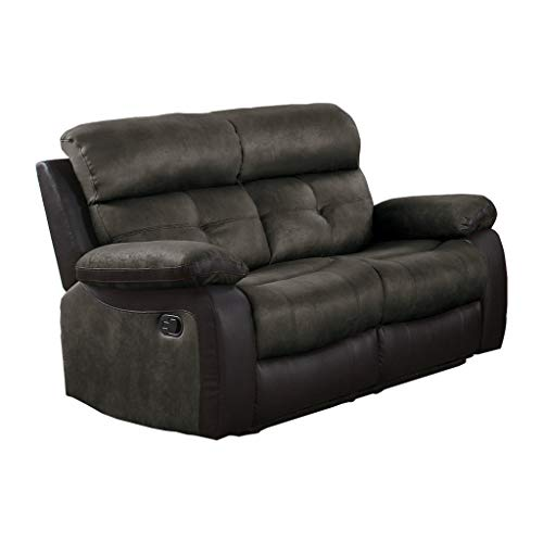 Homelegance Manual Double Reclining Love Seat, 60