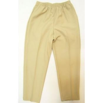 Alfred Dunner Classics Elastic Waist Missy Pants Tan 16 M