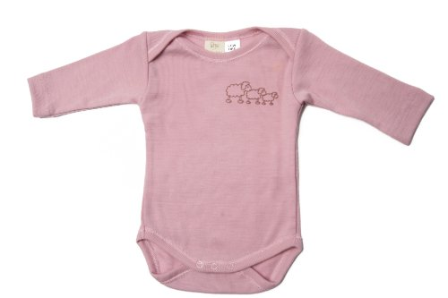 Poppet Natural Merino Baby Body Suit, Long Sleeve Onesie