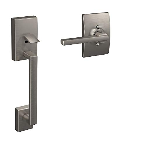 Schlage FE285 619 LAT CEN Lower Half Handleset, Satin Nickel ()