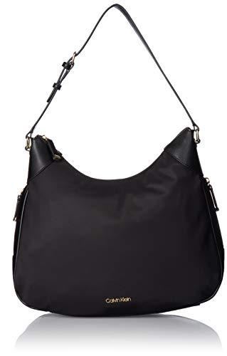 Calvin Klein Abby Nylon Hobo, Black Calvin Klein Hobo Bag