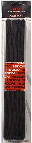 Schreuders deporte nijdam–Cordones planos de poliamida (2pares), Unisex, Nijdam, blanco/negro, 180 cm negro